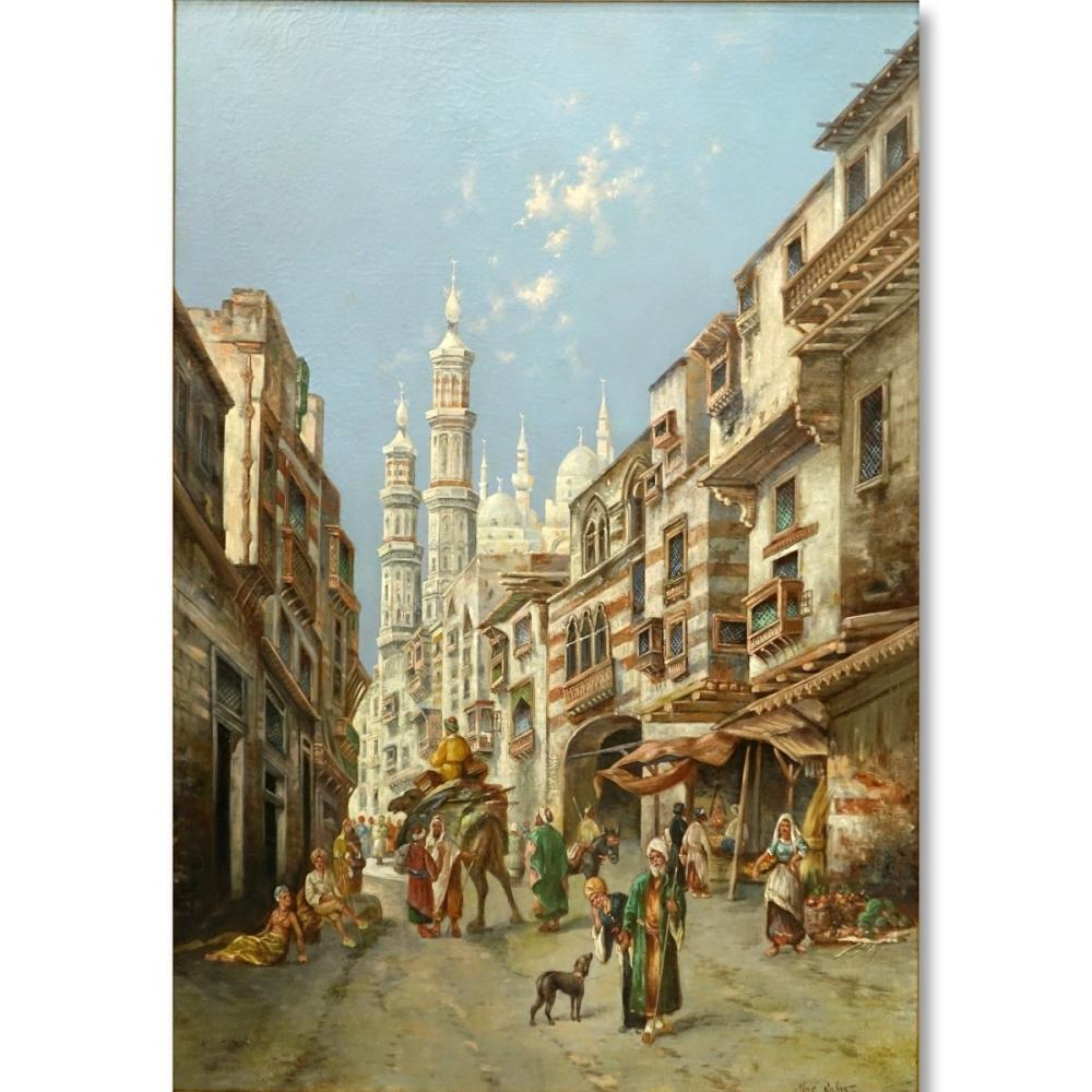 Max Friedrich Rabes O/C Street Scene in Cairo