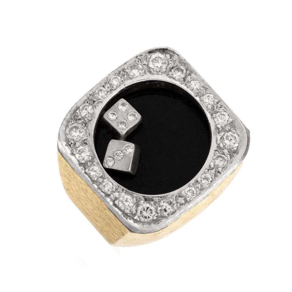 Man's Vintage Diamond and 14K Ring