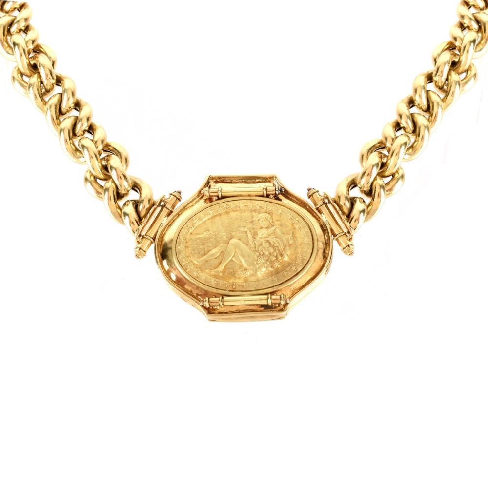 Vintage Italian 18K Pendant Necklace