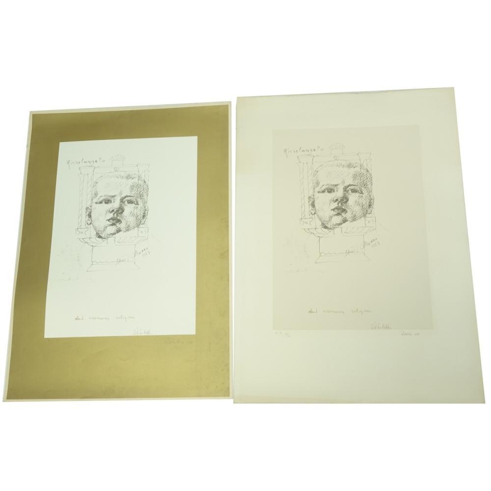Michelangelo Pistoletto (b. 1933) Silkscreens