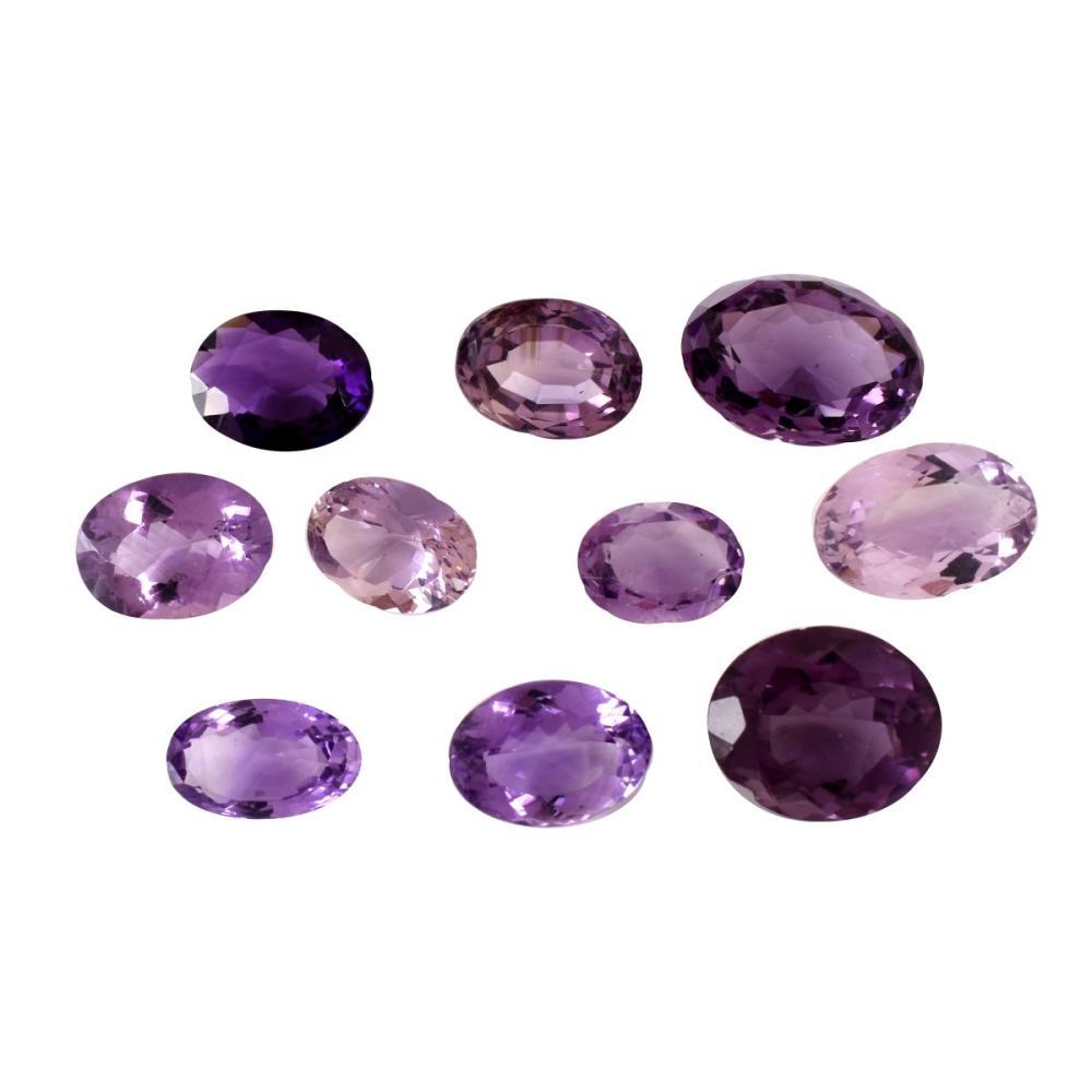 Ten Amethyst Stones