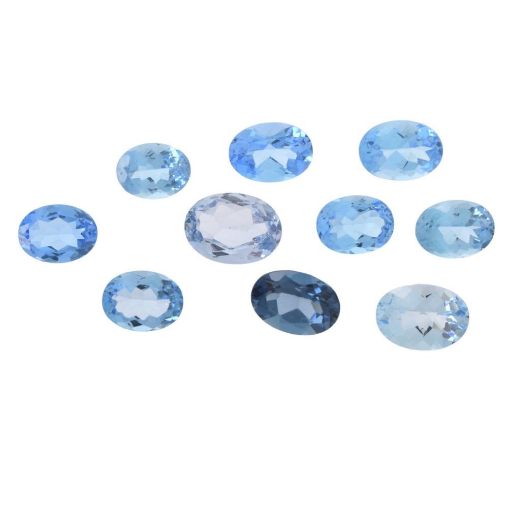 Ten London Blue Opal Stones