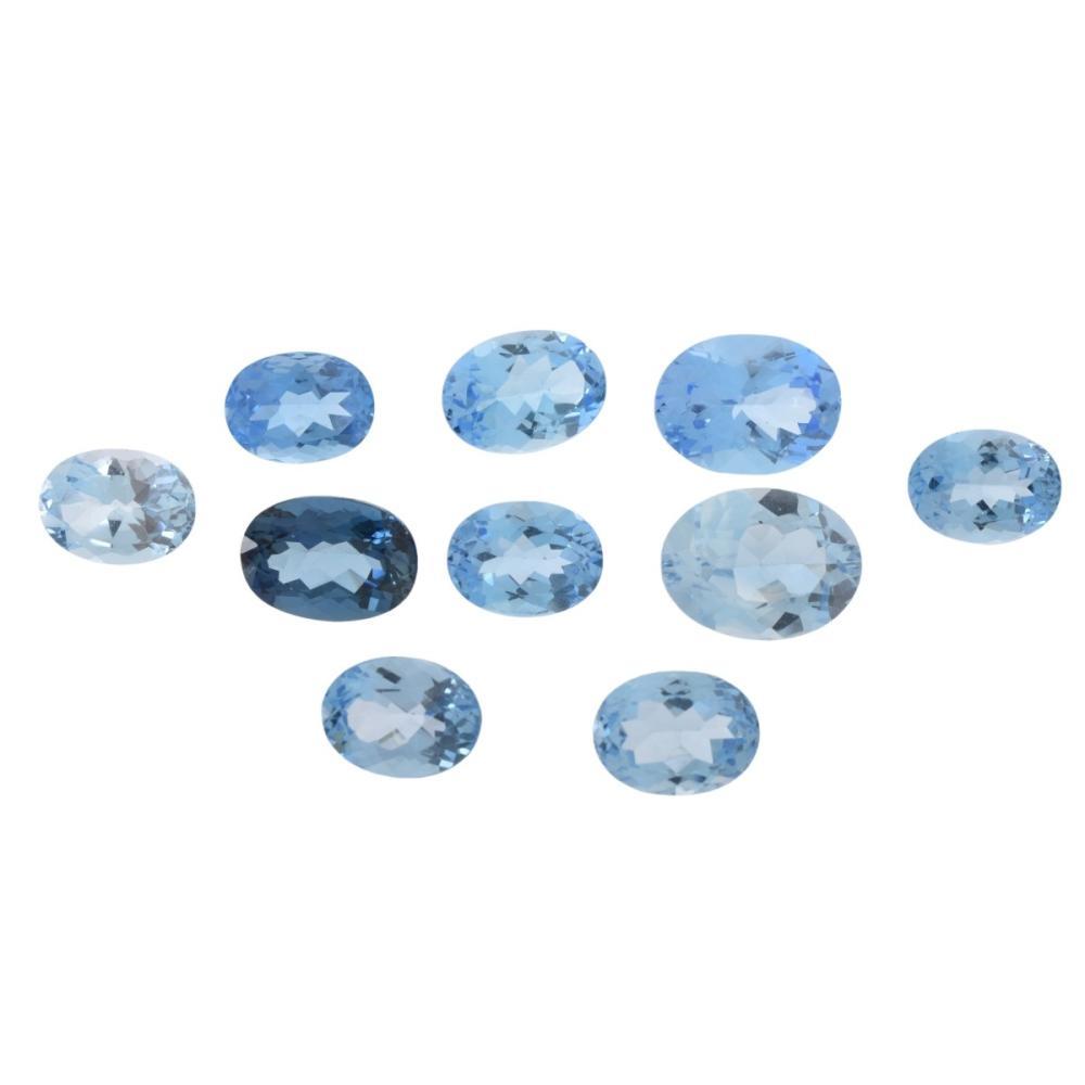 Ten London Blue Topaz Stones