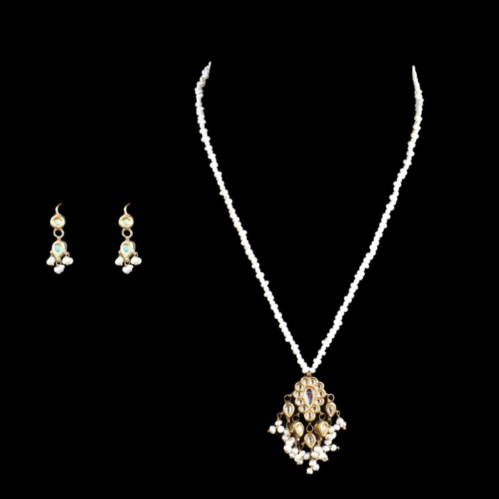 Indian Freshwater Pearl Necklace and Earrings
