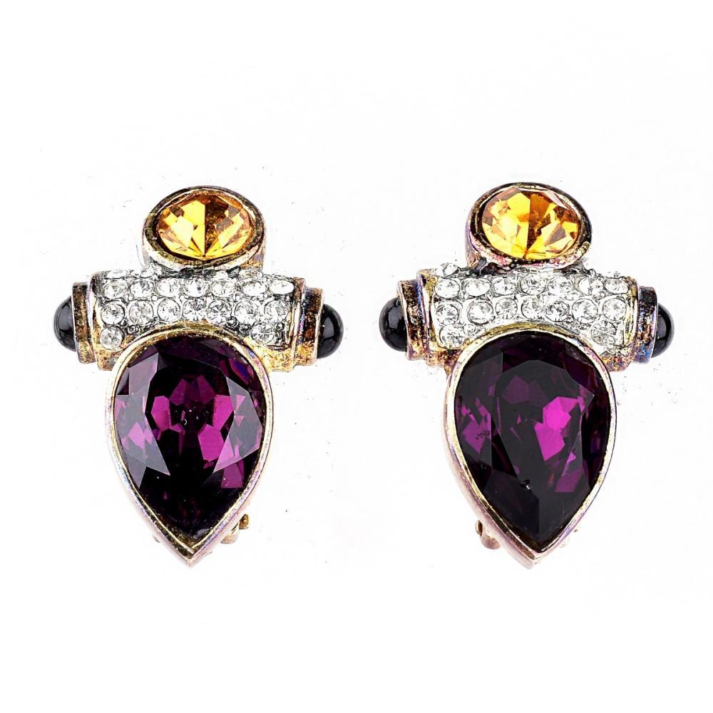 Pair Vintage David Yurman Style Earrings