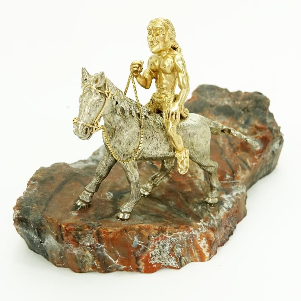 14K Gold & Silver Figurine