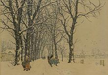 T. Frantisek Simon, Czech (1877-1942) Color Etching,