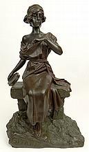 after: Emmanuel Villanis, French (1858-1914) Bronze Sculpture