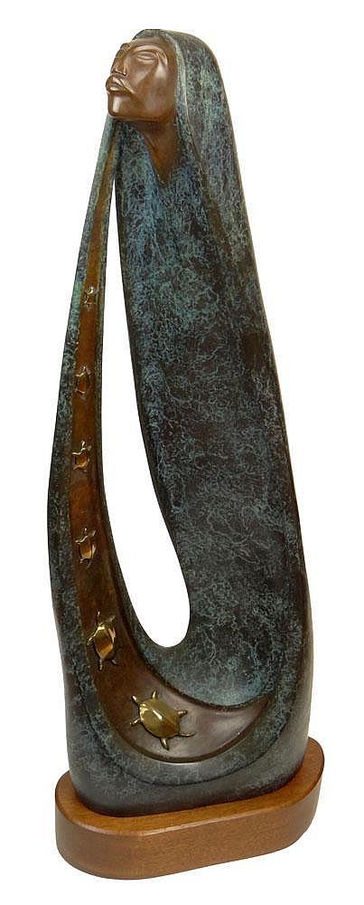 Bruce LaFountain, American (1961 - ) Bronze on Wood Base.