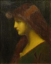 Jean Jacques Henner, French (1829-1905) Oil on Panel