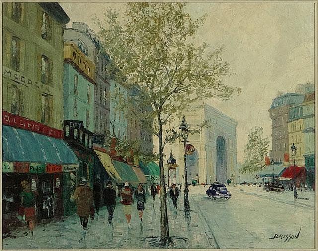 Marcel Brisson French (born1915- ) Oil on Canvas