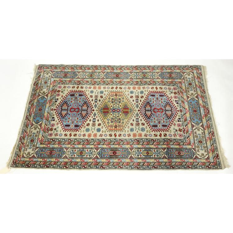 Semi Antique Persian Rug. Loss To Fringes, Stains, Dirty, Ne