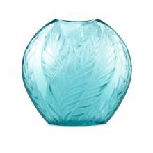 Modern Lalique Crystal Leaf Vase