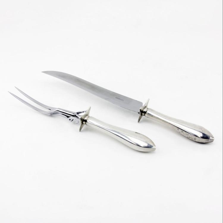 Reed and Barton Sterling Handle Carving Set