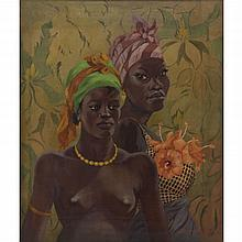 Émile Bernard, French (1868-1941) Oil on Canvas, African Women