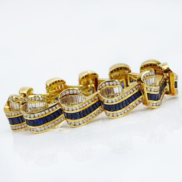Fine Quality Three Dimensional Scroll Bracelet