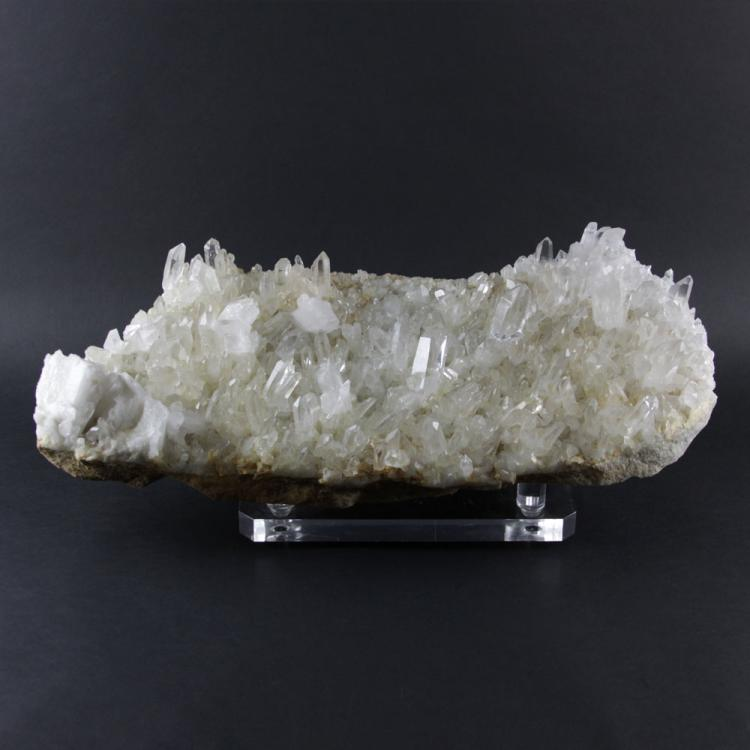 Natural Raw Quartz Crystal Specimen on Lucite Base