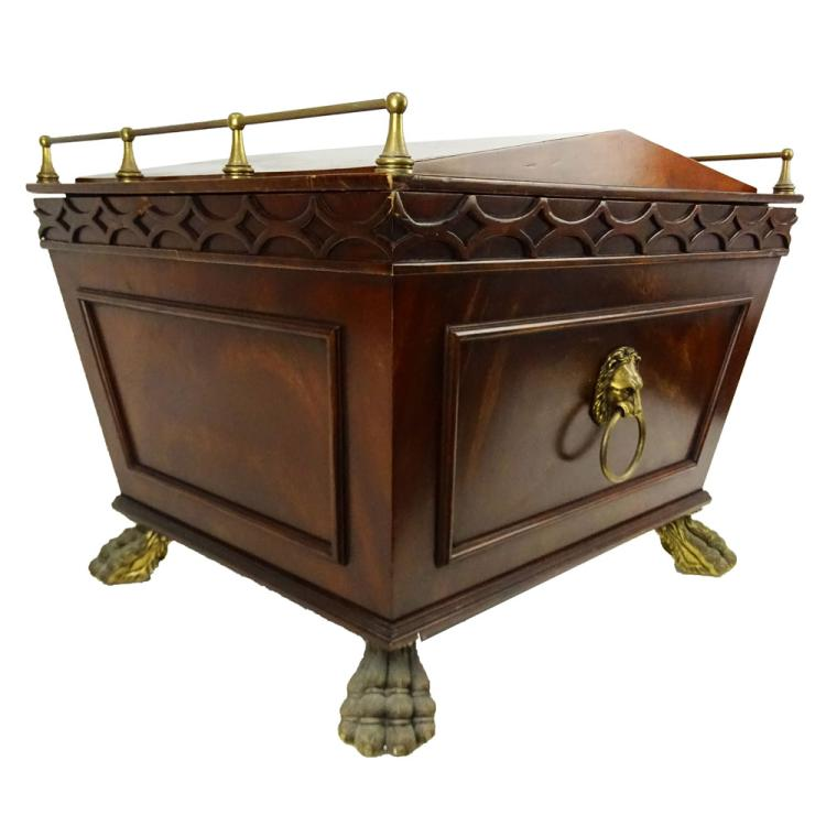 Regency style Mahogany Cellaret With Bronze Feet