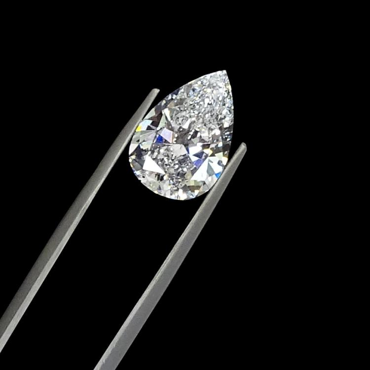 Important GIA Certified 4.04 Carat Pear Brilliant Diamond