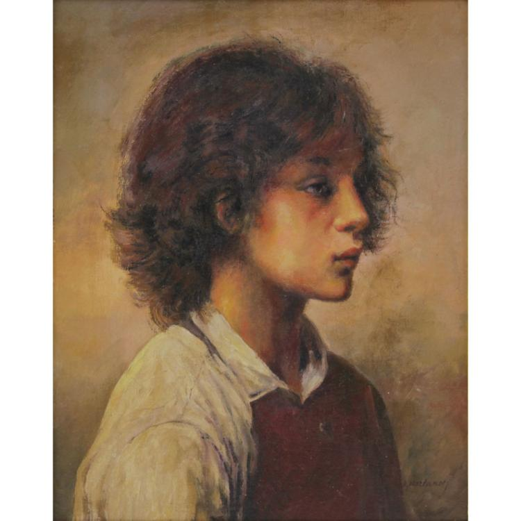 Attributed to: Alexej Alexejewitsch Harlamoff, Russian (1840-1925) Oil on Panel,