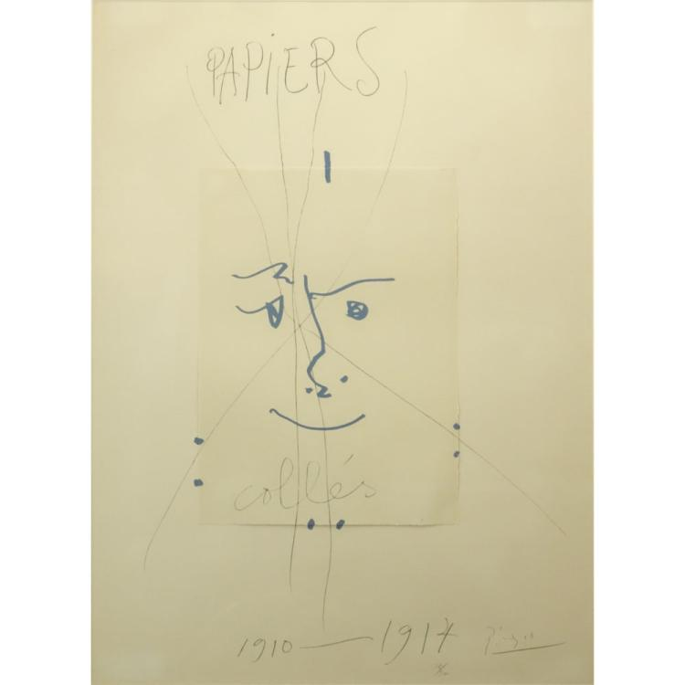 After: Pablo Picasso (1881-1973) Original Color Lithograph,