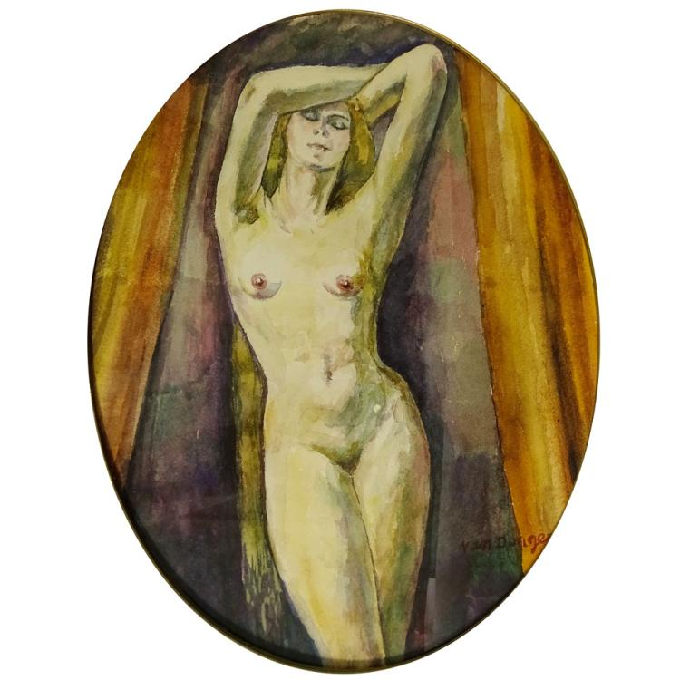 Attributed to: Kees van Dongen, Dutch 1877-1968) Watercolor on Paper, Nude
