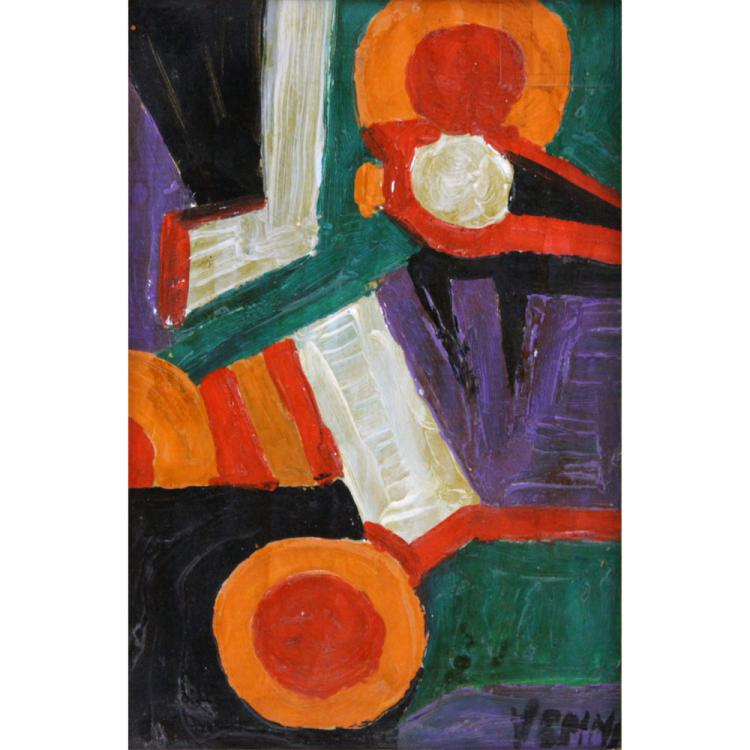 Lucio Venna, Italian (1897-1974) Oil on Canvas, Futurist Composition