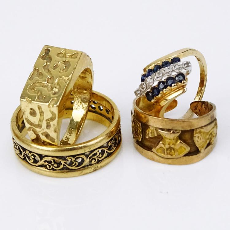 Collection of Four (4) Vintage Gold Rings