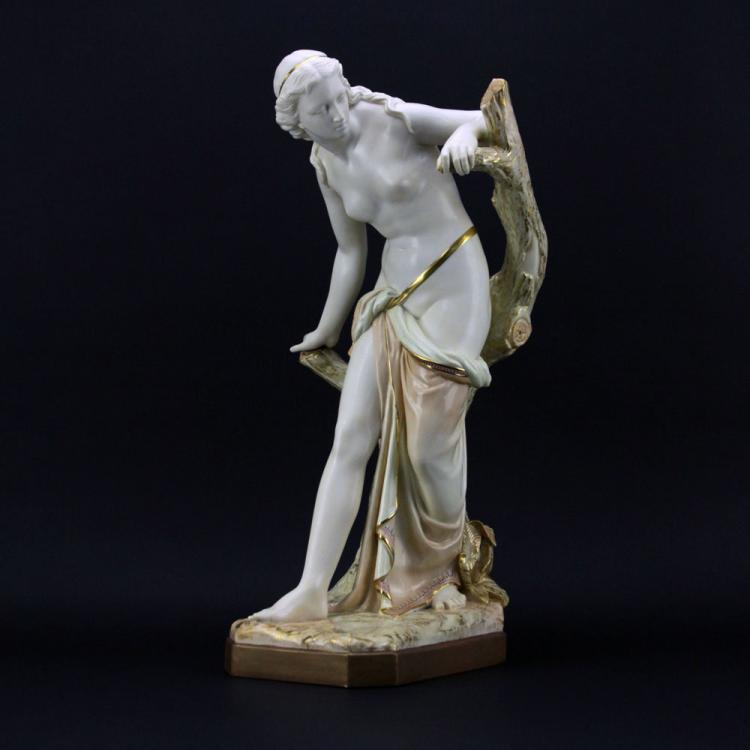 Large Royal Worcester Porcelain Figure
