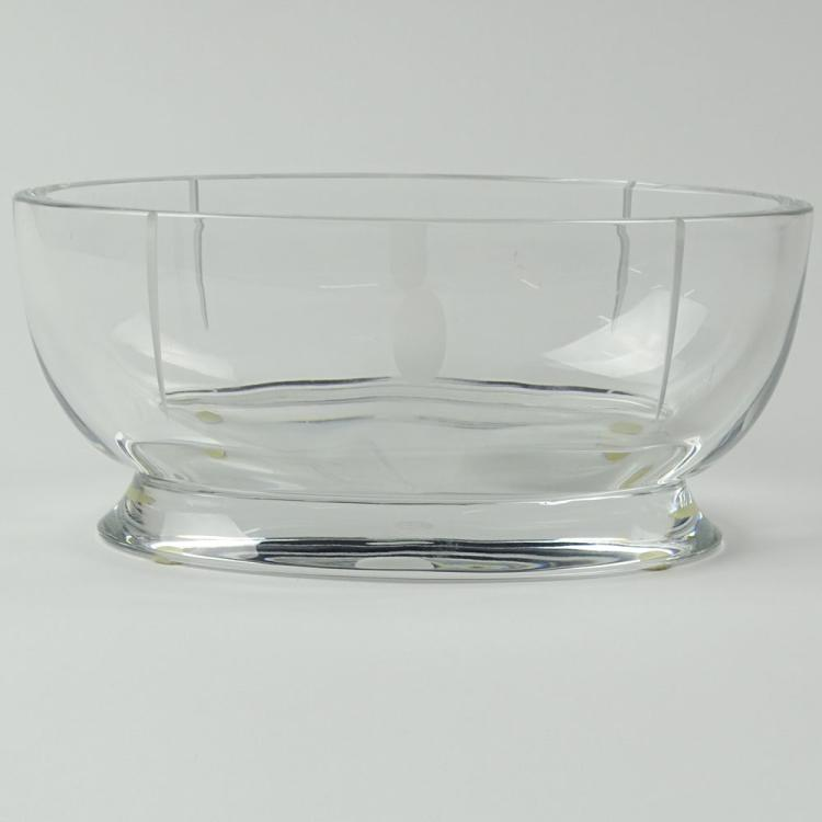 Contemporary Baccarat Crystal Bowl