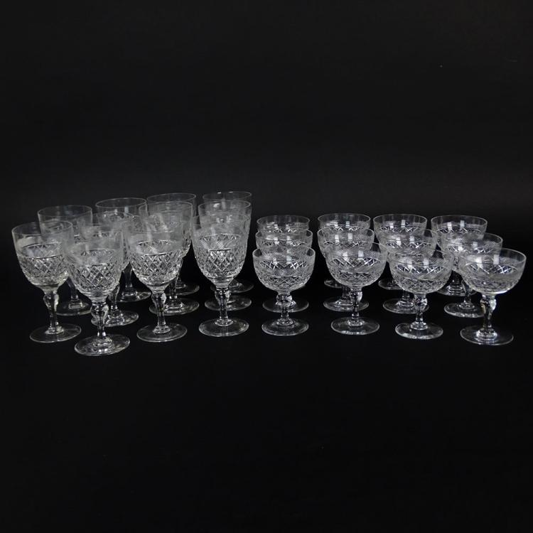 Twenty Three (23) Piece Thomas Webb Crystal Stemware