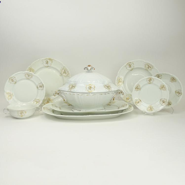 Limoges Georges Boyer Ninety Two (92) Piece Set Porcelain Dinnerware