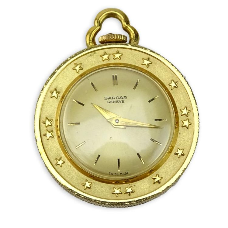 Vintage Sacar Geneve French Napoleon Empereur 1812 Coin Pendant Watch