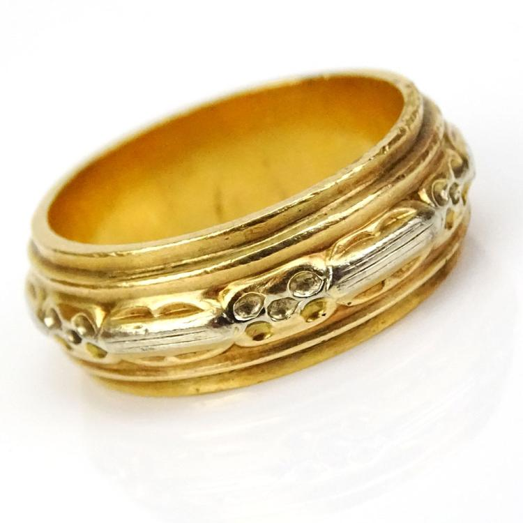 Man's Vintage Heavy 18 Karat Yellow Gold Band