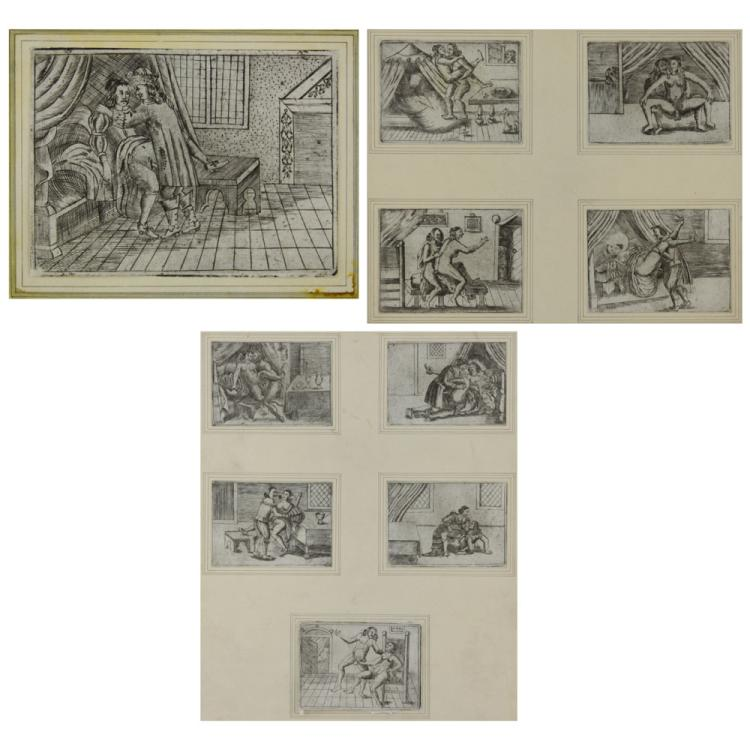 Collection of Ten (10) 18/19th Century French Erotic Etchings.