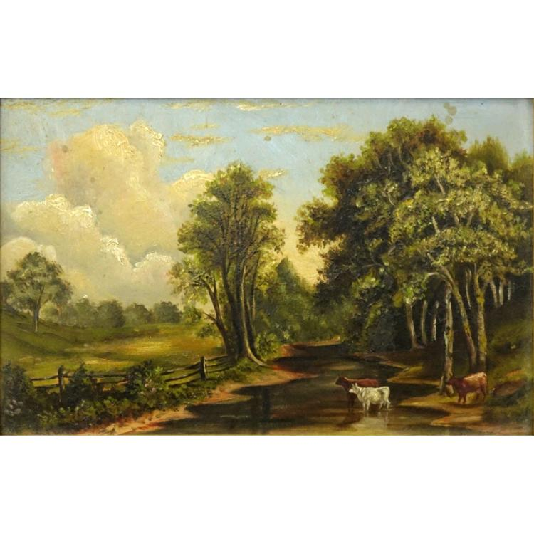 19/20th Century American School Oil on Canvas
