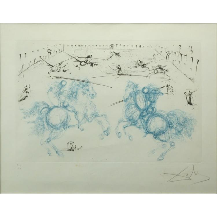 Salvador Dali, Spanish (1904-1985) Color Etching, Aquatint, and Dry Point