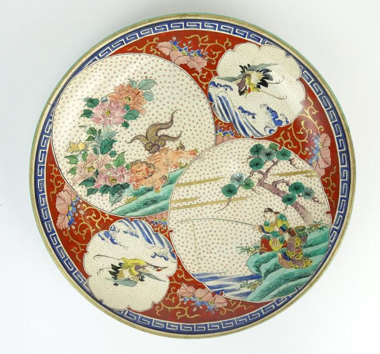 19th Century Chinese Soft Paste Porcelain Charger
