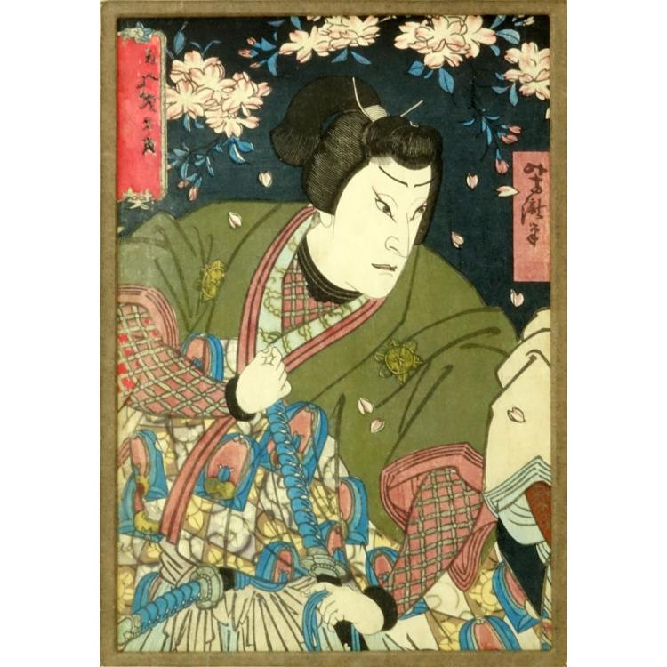 Antique Japanese Color Woodblock Print