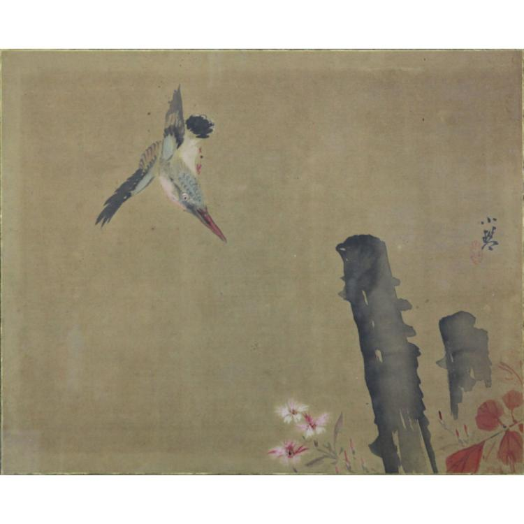 19/20th Century Chinese Song Dynasty Style Bird Scroll Painting