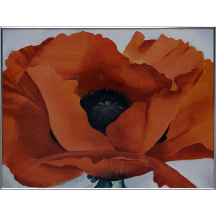 After: Georgia O'Keeffe, American (1887-1986) Red Poppy Print