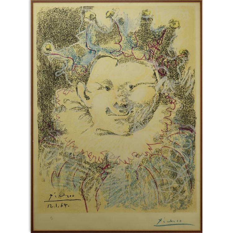 Pablo Picasso, Spanish (1881-1973) Color lithograph
