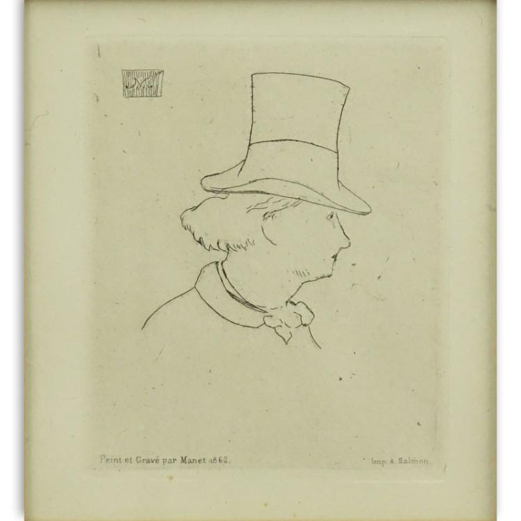 Édouard Manet, French (1832-1883) Drypoint etching