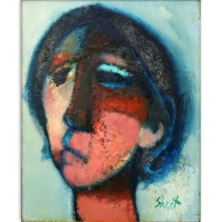 Serge Shart, French (1927-2011) Oil on Canvas, Portrait
