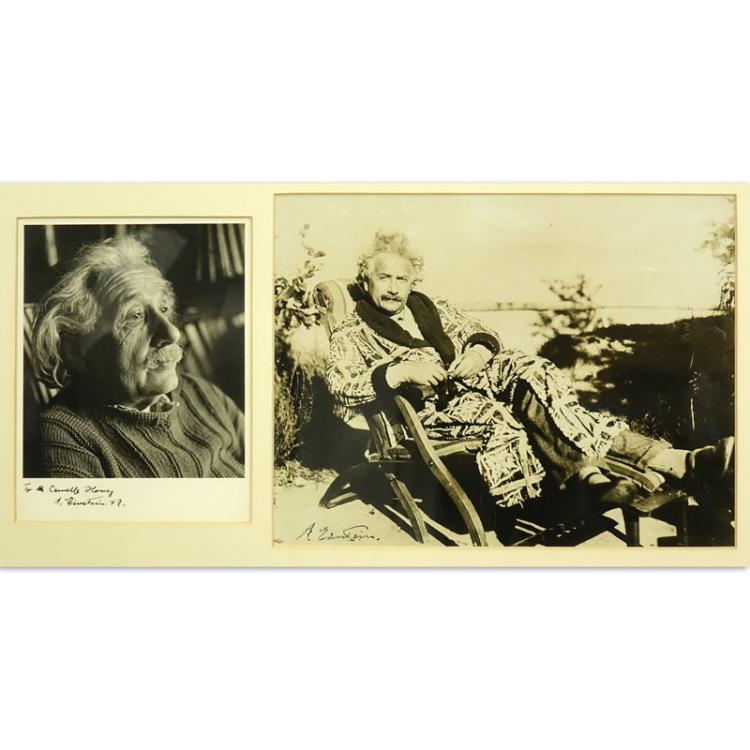 Two Signed Photographs Of Albert Einstein