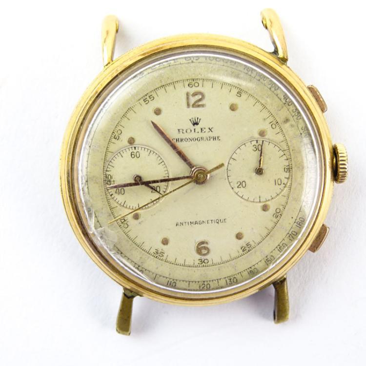 Men's Super Rare Circa 1950s Rolex 18 Karat Pink Gold