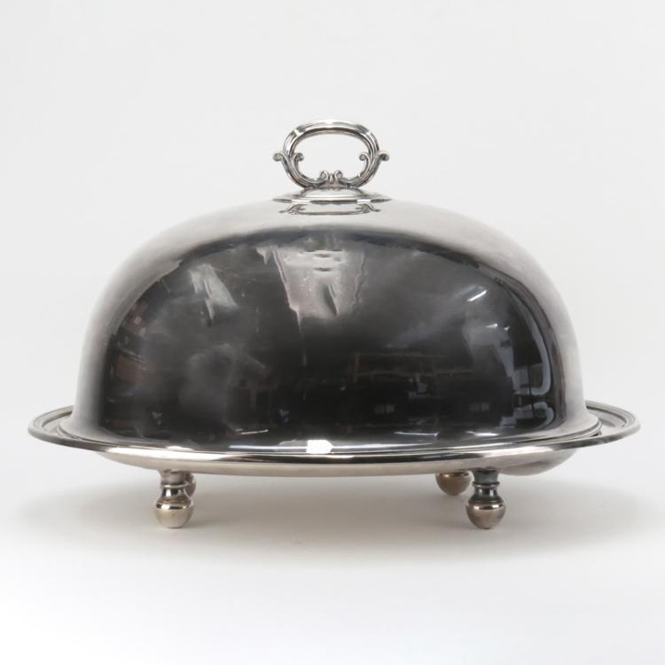 Large Elkington Silver Plate Dome Meat Server