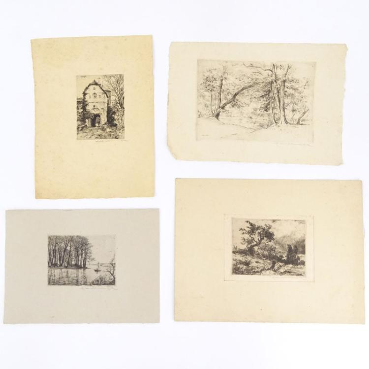 Eduard Winkler, German (1884-1978) A collection of four (4) etchings