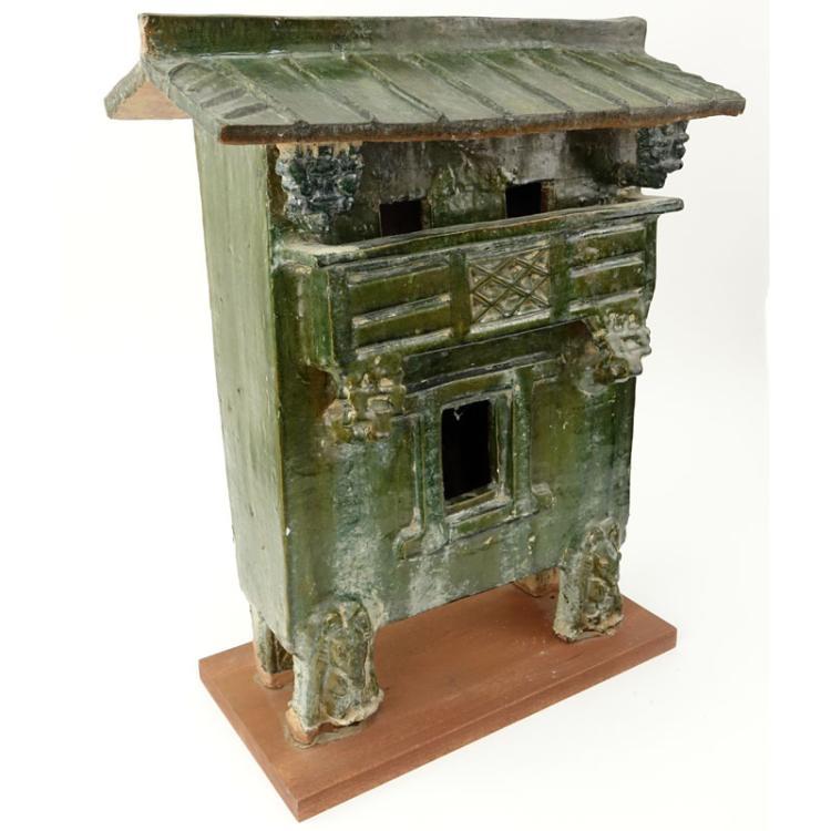 Early Chinese Glazed Pottery Shrine