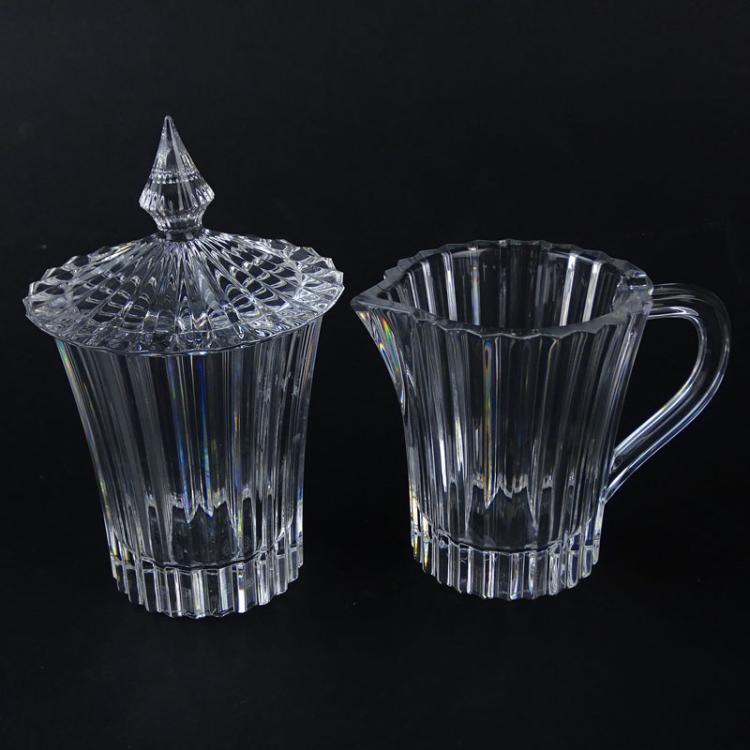 Baccarat Mille Nuits Crystal Creamer and Covered Sugar in Fitted Box